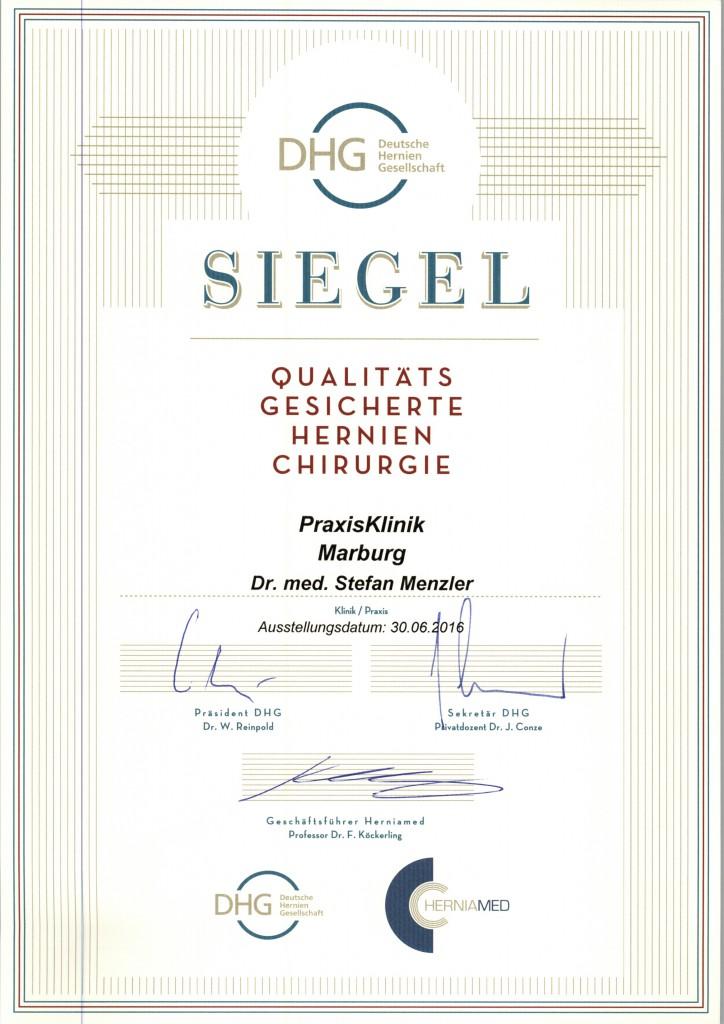 Zertifikat Menzler